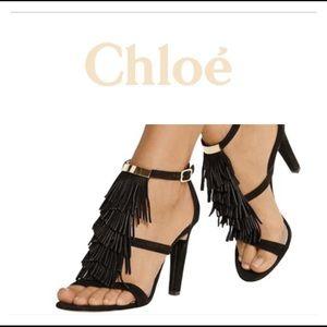 Chloe Fringe sandal pump